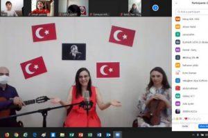 23 Nisan'da Sinop'lu Çocuklarla Çevrimiçi Müzik Eğitimi Etkinliği Gerçekleştirildi.